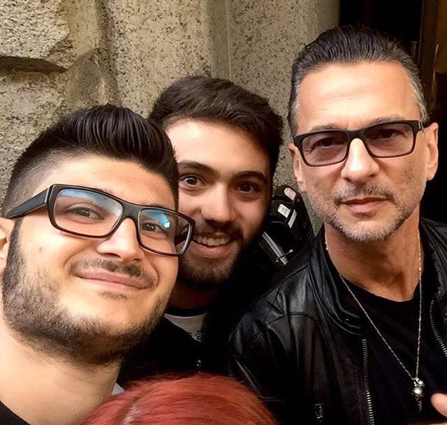 Dave Gahan in Milan before Press Conference