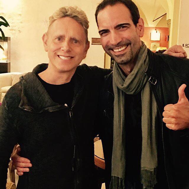 Martin Gore in Milan before Press Conference